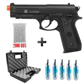 Pistola Airsoft Co2 Taurus Pt 92 Nylon + Case+ 5co2 +2000bbs