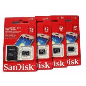 Cartão Memória 32 Gb Sandisk Original Lacrado Kit 5 Unidades
