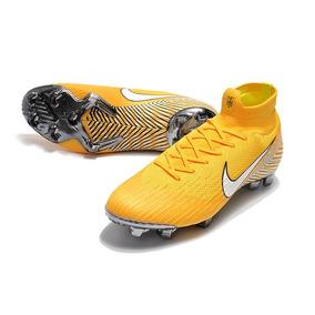 Chuteira Nike Mercurial Azul E Amarela - Chuteiras no Mercado Livre ... 1c4f0d0dd2b18