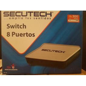 Switch 8 Puertos Secutech 300mbps