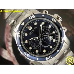 Relógio Invicta Pro Diver Em Aço Inox Com Fundo Azul 0070