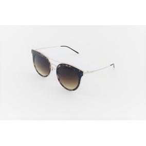 79da082574ec1 Óculos Sol Feminino Lougge Metal Marmorizado Marrom Lg1039.4