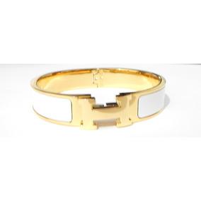 ce5b89a88b5 Pulseira Bracelete Hermes Clic Clac Preto Com Caixa - Joias e ...