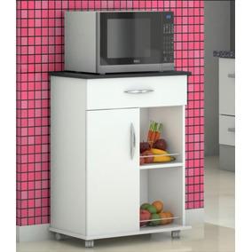 Armário Para Cozinha Porta Microondas Fruteira Organizador