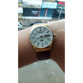 6e4bf989ef6 Relógio Citizen Automático - Mostrador Branco Com Dourado