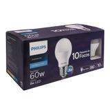 Focos Led Philips Luz Blanca-fría 10 Piezas 60 W / 8 W