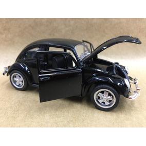 Miniatura Fusca Preto 1967 Rodas Esportiva