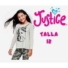 Blusa Justice Original Diseño Unicornio. Talla 10