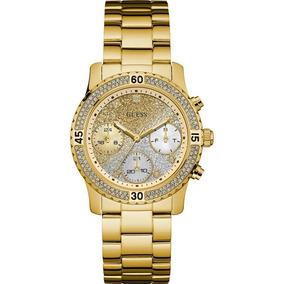 Relógio Guess Dourado Glitter Strass Original 92595lpgsda5