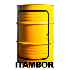Tambor Decorativo Amarelo - Receba Em Farias Brito