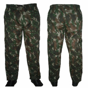 Calça Masculina Camuflada Rip Ston Com Elástico C 5 Bolso