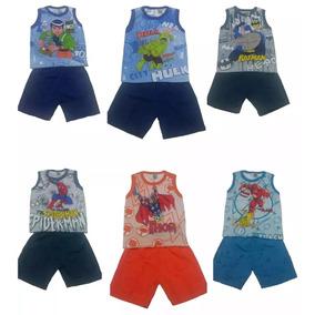 Kit Com 2 Conjunto Infantil Menino Masculino Regata 59da3a4a11de3