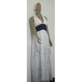 Vestido Blanco Largo, Escote Marilyn. Diseños En Negro. Gala