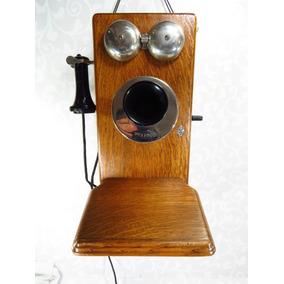 Telefone De Parede Kellogg Caixa De Madeira Maciço Dec 30/40