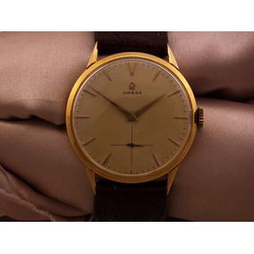 Omega Relógio Masculino Calibre 166 Em Ouro De 1954 J12589