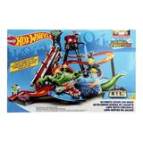 Mega Pista Hotwheels Autolavado Ataque De Cocodrilo Mattel