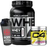 Whey Protein Cor 900g + Pre Treino C4 + Shaker - Cellucor