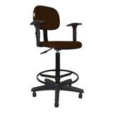 Cadeira Caixa Alta Secretária - C/ Braço Preta