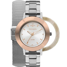 bf793a50d74 Relógio Technos Feminino Troca Pulseiras E Aros 2035mlk t1k
