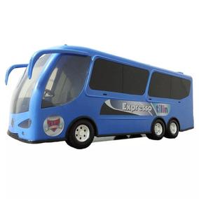 Onibus Brinquedo Expresso Tilin Azul Criança Infantil