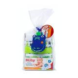 Babitas Nuby Set De 6 Con Esponja Azul- Bebés Y Niños