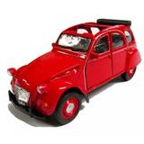 Auto Coleccion Marca Welly Nex - Citroen 2cv Rojo 1:36