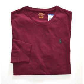 Camiseta Básica Polo Ralph Lauren Tam M Manga Longa Algodão 1a4d747938a