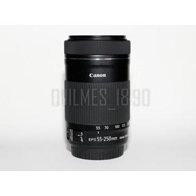 Lente Canon Efs Stm 55-250mm Is F 4-5.6 Image Stabilizer