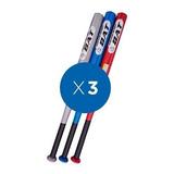 Pack Baseball 3x Bate De Aluminio De 82cms + Envio Gratis