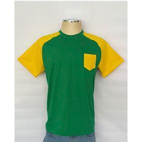 58442b69f9 Camiseta Raglan Com Bolso - Camisetas e Blusas no Mercado Livre Brasil