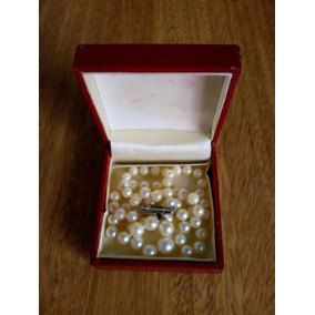 6b3d52469c5e Collar De Perlas Antiguo Con Broche De Plata