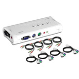 Accesorios 4-port Ps2 Kvm Switch And Cable Kit With Audio, 4