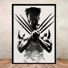 Poster Quadro C/ Vidro Wolverine X-men Marvel - 45x35 Cm