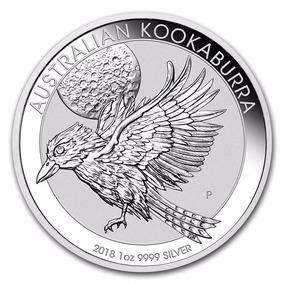 Moneda De Plata Pura 99.99% Australia Kookaburra 2018 1 Onza