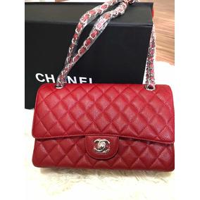 9952400b0c79b Bolsa Chanel 255 Vermelha - Couro 100 % Original