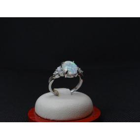 Hermoso Anillo De Plata 925 Con Opalo Y Cristales 8fe9a17