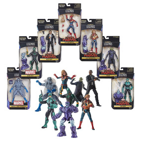 Kit Figuras De Acción Legends Capitana Marvel Hasbro