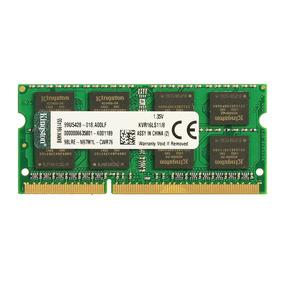 Memoria Ram Notebook 8gb Ddr3l Kingston 1600 Mhz Velocidad