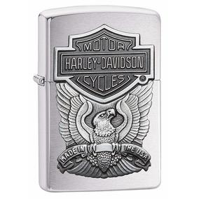Encendedor Harley-davidson Zippo Águila Alas Cromo