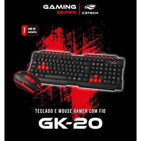 Kit Teclado E Mouse Gamer Gk-20 C3tech + Brinde