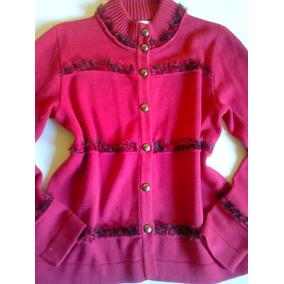 Blusa Inverno Em Lã Vermelha Diferente Desfiada