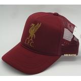 5b8dfb738d Boné Liverpool Fc Liga Inglesa Trucker Cap Tela Vintage