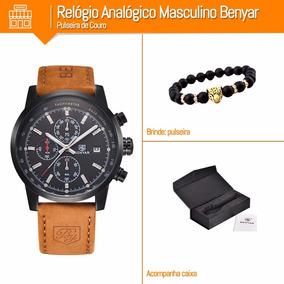 0776cb283e2 Relógio Analógico Masculino Benyar Pulseira Couro + Brindes · R  189 90.  12x R  15 sem juros. Frete grátis