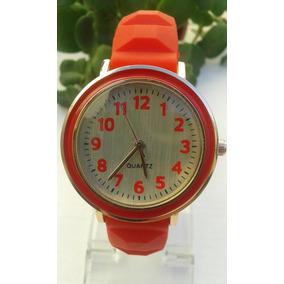 Reloj Mujer Pulsera Brazalete Deportivo Silicona Colores 6 U