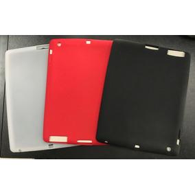 Capa Protetora Para Ipad Em Silicone Branco Ou Vermelho
