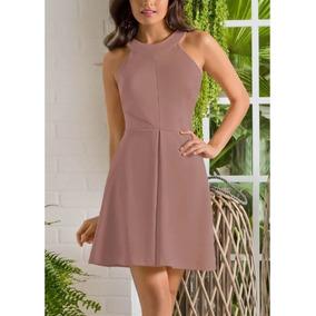 Vestido Escote Redondo Rosa 1352757