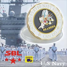 Moeda Comemorativa Seabees Divisão De Marinha