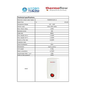 Super Promo - Calentador Instantáneo De Agua Thermoflow 12kw