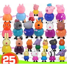 25 Peças Peppa Pig E Família E Amigos ( Pronta Entrega )