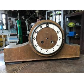 Caixa Relógio Silco A Corda De Mesa Antigo Madeira Ñ Pulso
